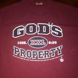 Old vtg 1998 GODS PROPERTY T-shirt sz L